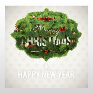 "Merry Christmas Wreath 24""H x 24""W"