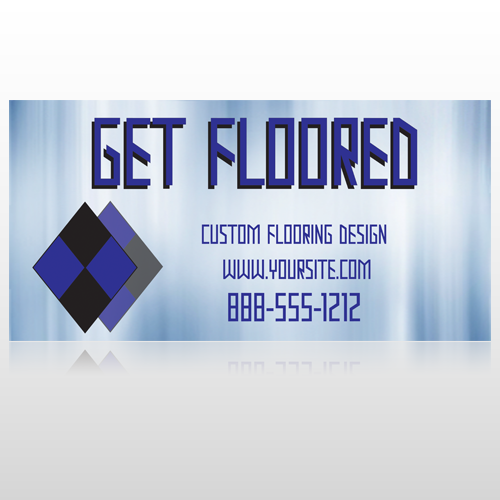 Blue Checker 249 Floor Decal