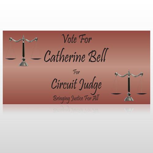 Vote Scale Judge 264 Custom Sign