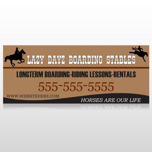 Boarding Stables 304 Custom Banner