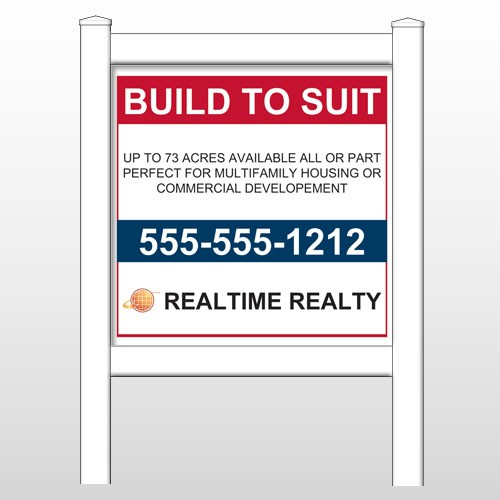 """Realtime 498 48""""H x 48""""W Site Sign"""