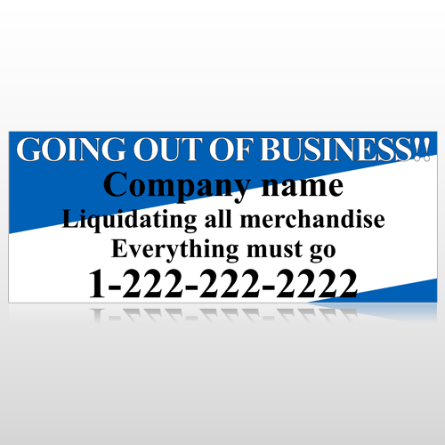 Going Out Sale 11 Custom Banner