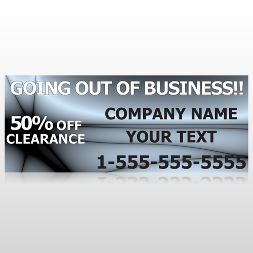 Gray Going Out of Business Sale 12 Custom Banner