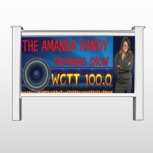 """Amp Morning Show 439 48""""H x 96""""W Site Sign"""