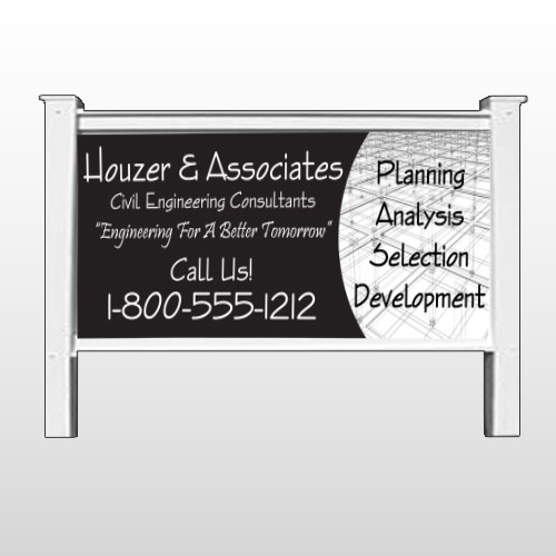"Black Planning 218 48""H x 96""W Site Sign"