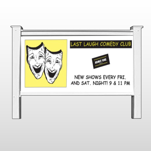 "Comedy Mask 516 48""H x 96""W Site Sign"