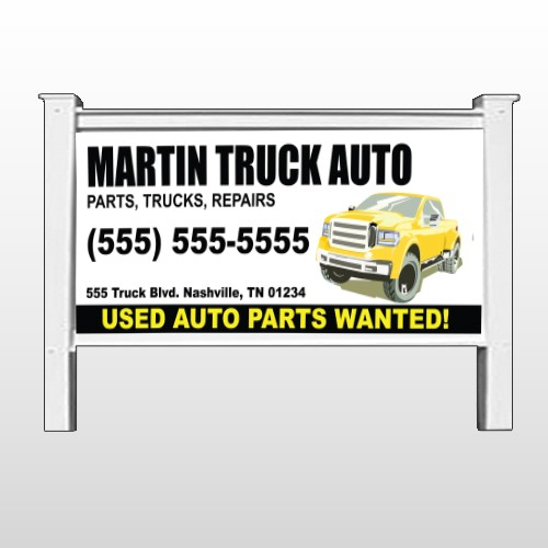 "Black & Yellow Truck 117 48""H x 96""W Site Sign"