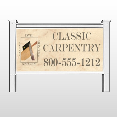 """Carpentry 236 48""""H x 96""""W Site Sign"""