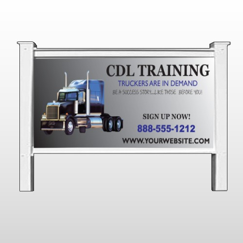 """CDL Training 155 48""""H x 96""""W Site Sign"""