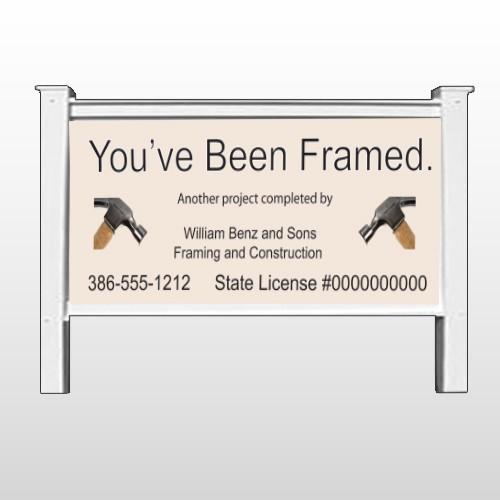 """Framed 236 48""""H x 96""""W Site Sign"""
