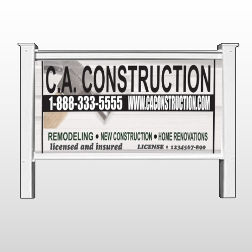 """Hammer 498 48""""H x 96""""W  Site Sign"""