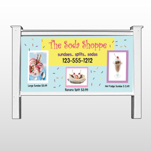 """Ice Cream 374 48""""H x 96""""W Site Sign"""