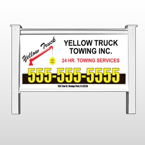 """Towing 125 48""""H x 96""""W Site Sign"""