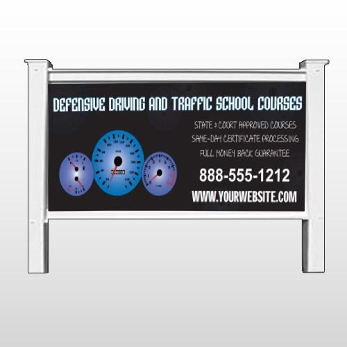 """Traffic School 152 48""""H x 96""""W Site Sign"""