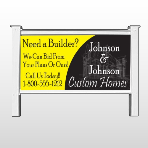 "Yellow House Plan 216 48""H x 96""W Site Sign"