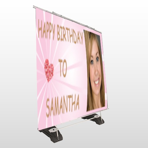 Happy Birthday Marley 10 Exterior Pocket Banner Stand