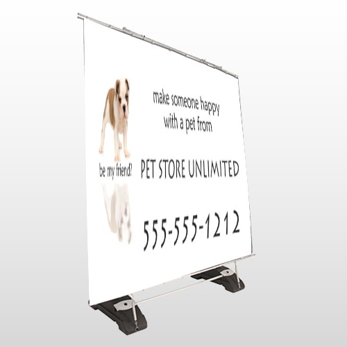 Pet Store 26 Exterior Pocket Banner Stand