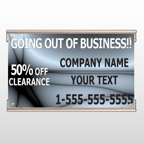 Gray Going Out of Business Sale 12 Track Banner