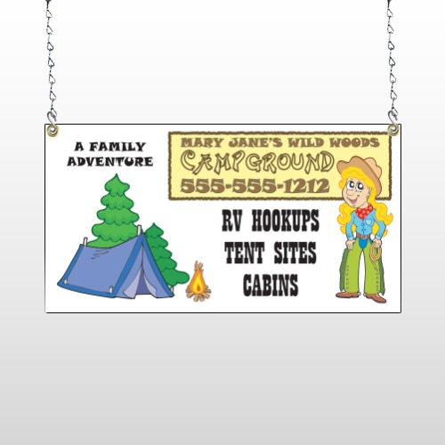 Campground 144 Window Sign