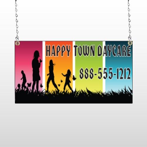 Happy Town 181 Window Sign