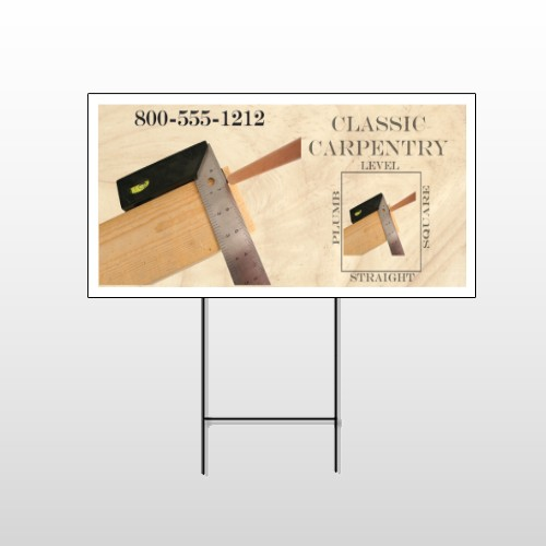 Carpentry 238 Wire Frame Sign