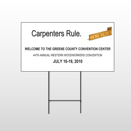 Construction 239 Wire Frame Sign