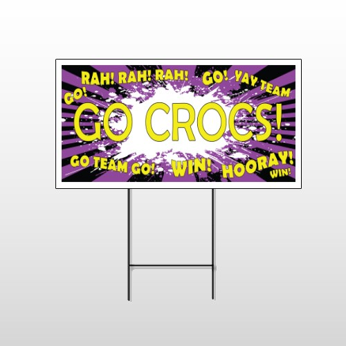 Crocs 42 Wire Frame Sign
