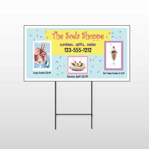 Ice Cream 374 Wire Frame Sign