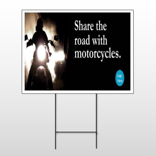 Motorcycle 106 Wire Frame Sign