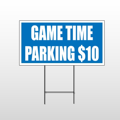 Parking 123 Wire Frame Sign