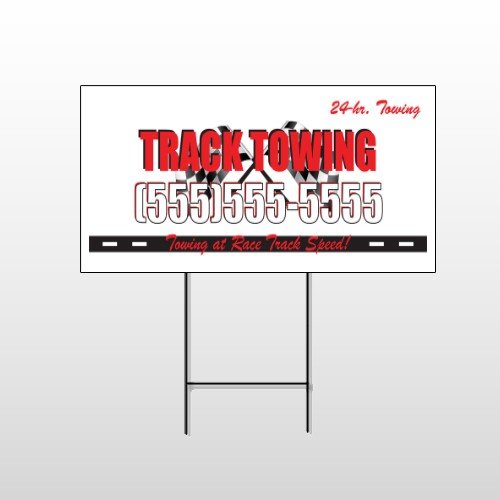 Towing 126 Wire Frame Sign