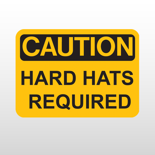 OSHA Caution Hard Hats Required
