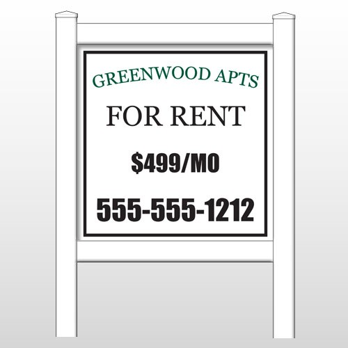 """Greenwood 467 48""""H x 48""""W Site Sign"""