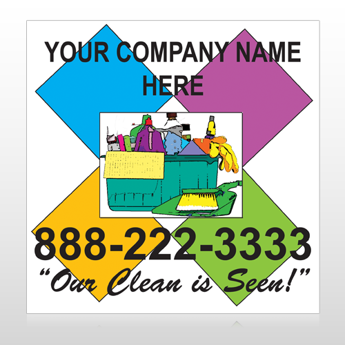 Cleaning Supplies 451 Custom Banner