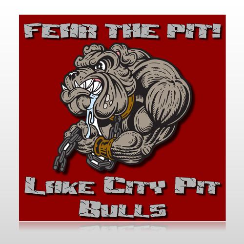 Fear Dog Mascot 51 Floor Decal