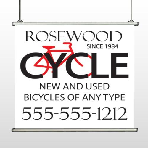 Bike Shop 33 Hanging Banner
