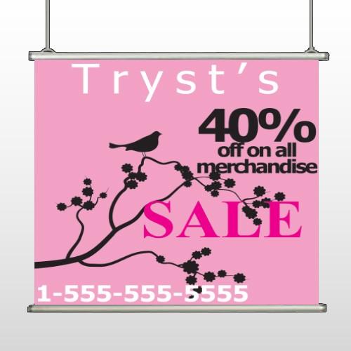 Bird Branch Sale 08 Hanging Banner