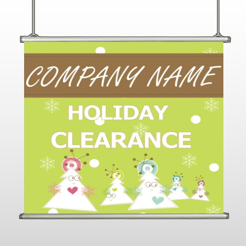 Holiday Clearance 13 Hanging Banner