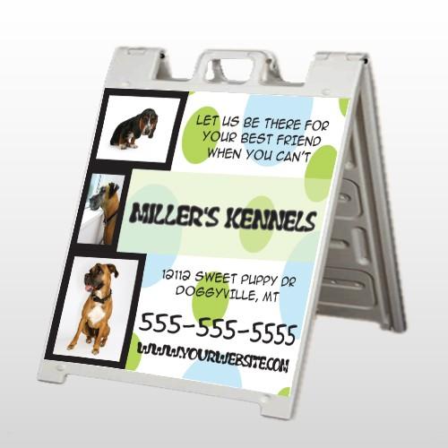 Dog Kennels 300 A Frame Sign
