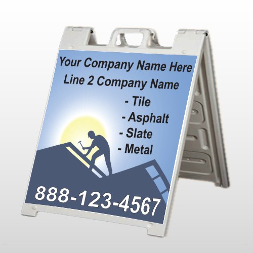 Roofing 258 A-Frame Sign