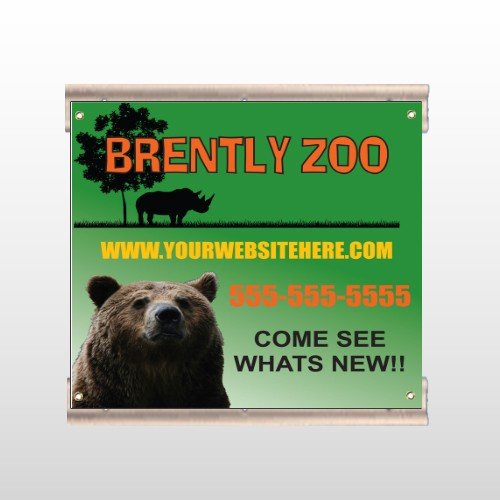 Bear Zoo 302 Track Sign