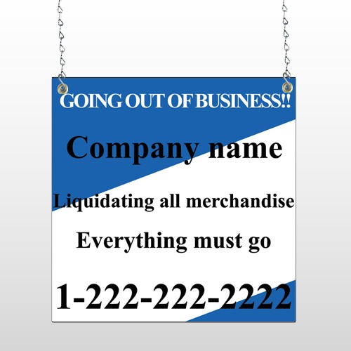 Going Out Sale 11 Window Sign