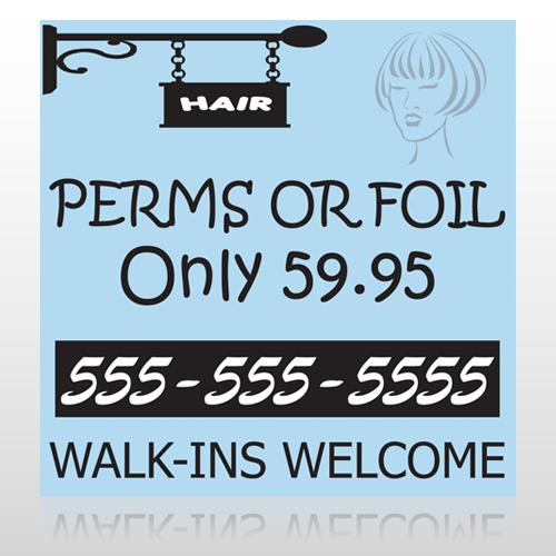 Woman Hair Sign 289 Wall Art
