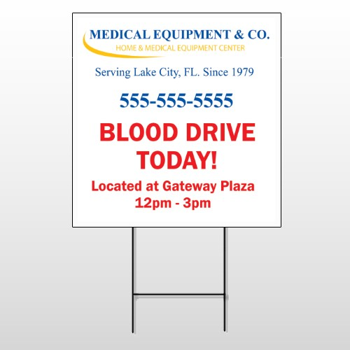 Blood Drive 97 Wire Frame Sign