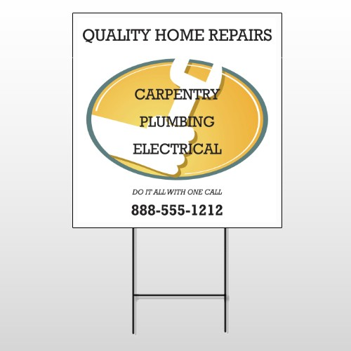 Construction 244 Wire Frame Sign