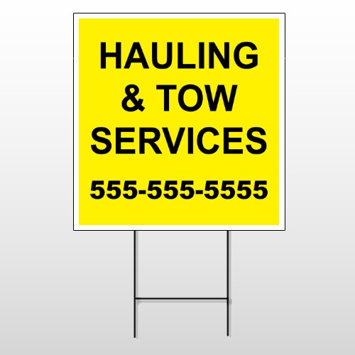 Hauling 127 Wire Frame Sign