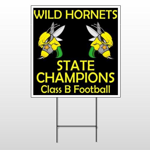 Hornet 44 Wire Frame Sign