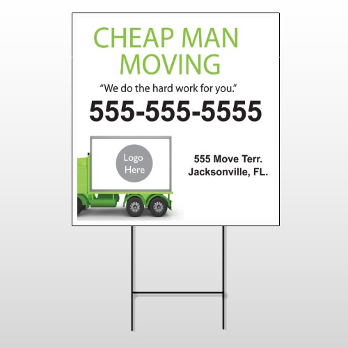 Moving 121 Wire Frame Sign