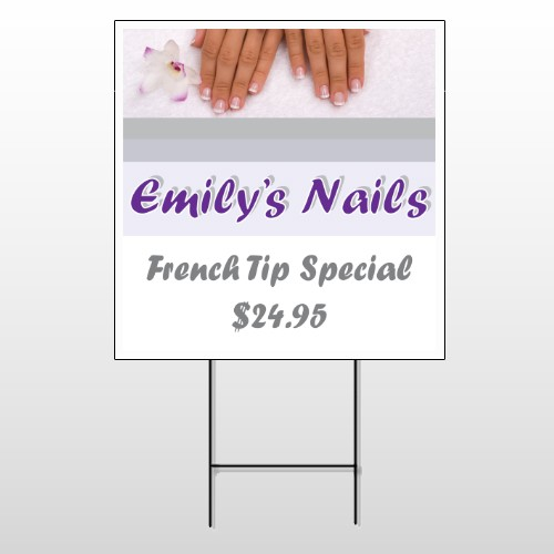 Nails 295 Wire Frame Sign