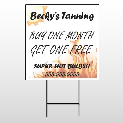 Tanning 298 Wire Frame Sign